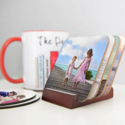 Personalised Photo Coasters Set Of Eight